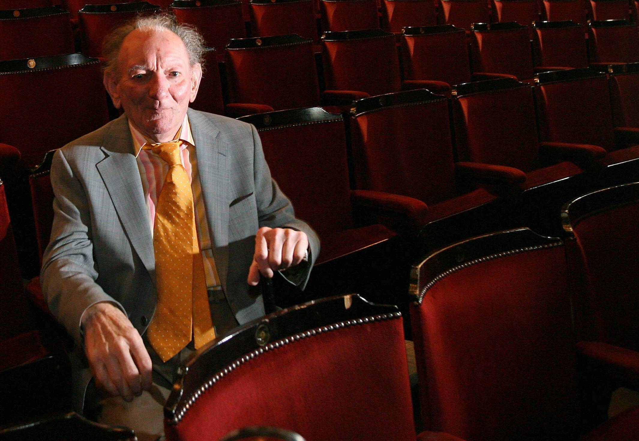 Playwright Brian Friel sitting in a theatre in Dublin. Authorities say Brian Friel, the Tony Award-winning playwright who created ''Dancing at Lughnasa'' and more than 30 other plays, has died at the age of 86.