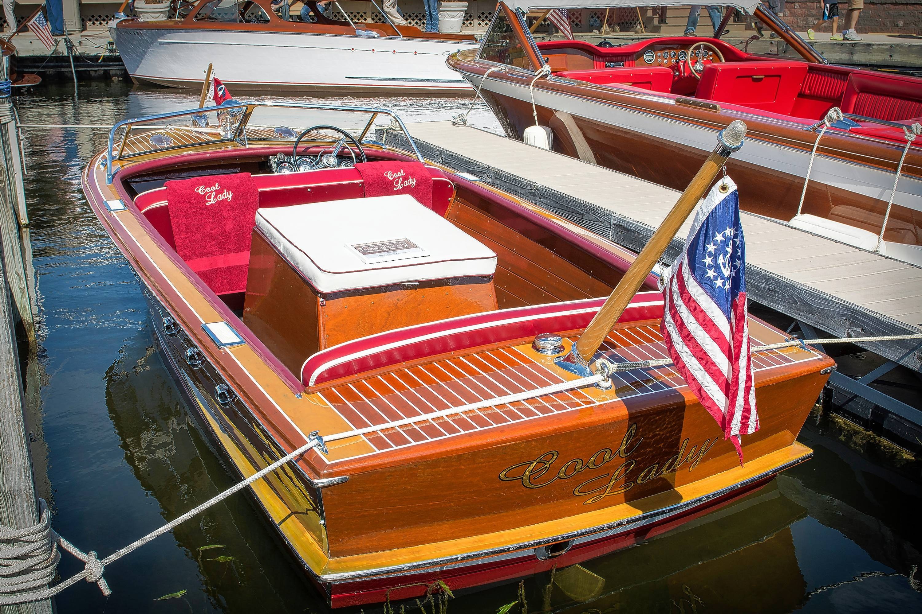 The 1956 Chris-Craft boat is now powered by a V-8 engine built to go under the hood of a Chevrolet Corvette.