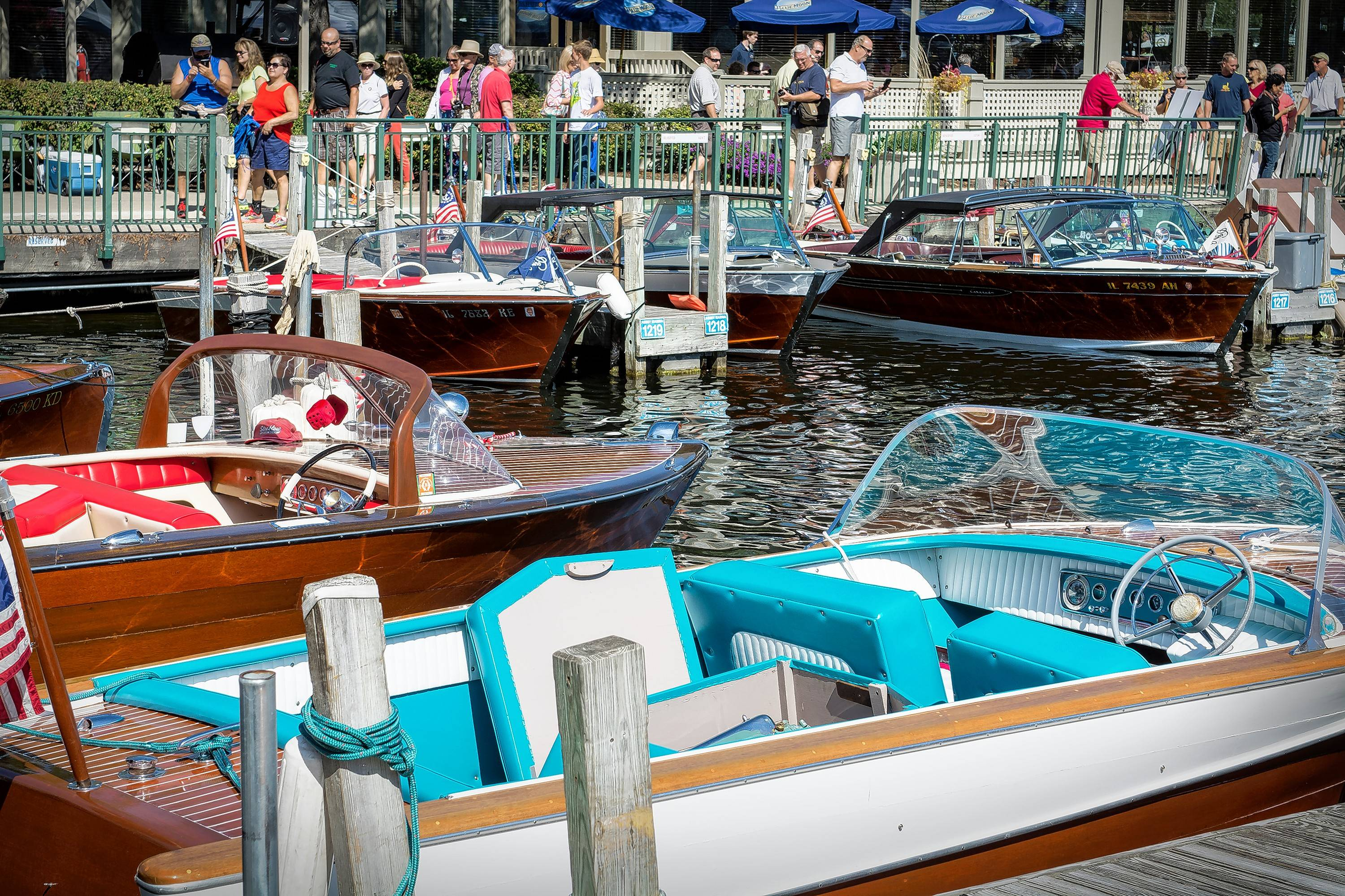 The Geneva Lakes show is sponsored by the Blackhawk Chapter of the Antique and Classic Boat Society.