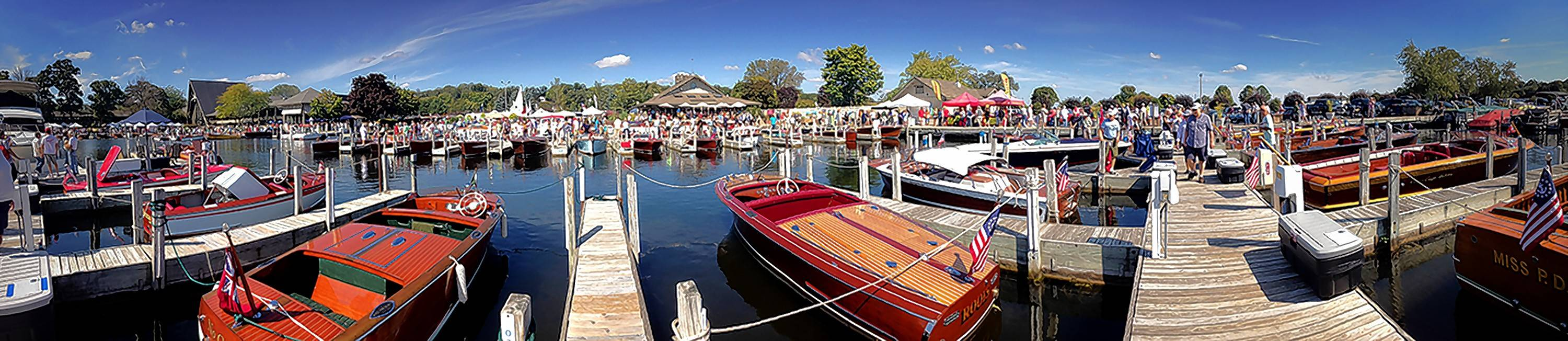 The Abbey Resort in Fontana, Wisconsin, hosted the 2015 Geneva Lakes Antique and Classic Boat Show.