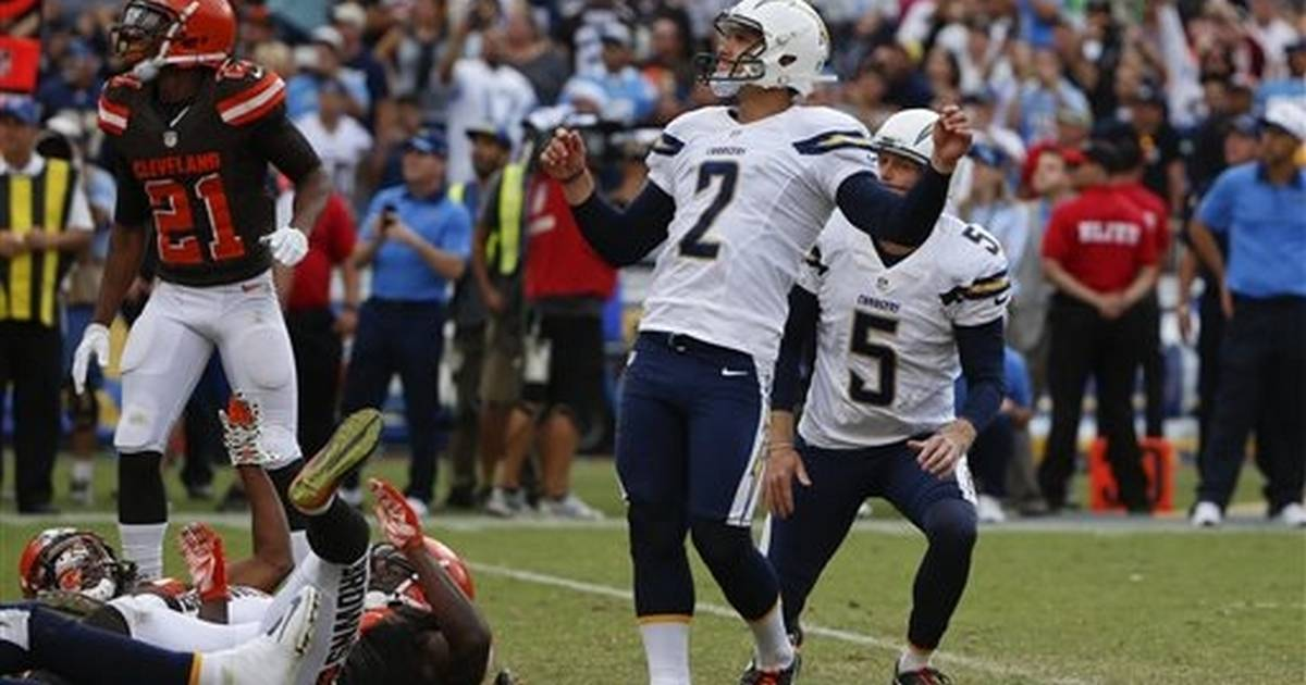 Lambo's FG as time expires lifts Chargers over Browns