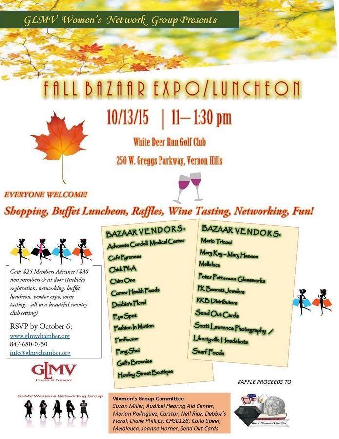 Fall Into Fabulous at GLMV Fall Bazaar EXPO/Luncheon - 10/13