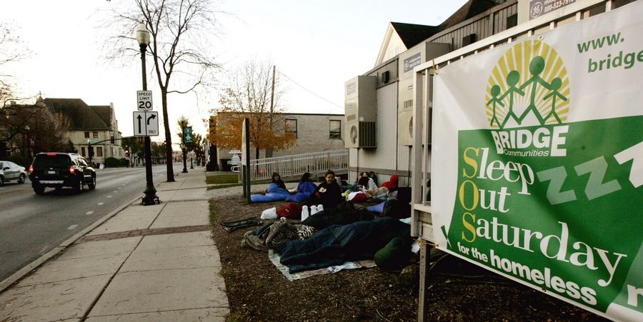 Up to 2,000 people across DuPage County will sleep outside Nov. 7 to raise money for Bridge Communities, a Glen Ellyn-based nonprofit group that provides transitional housing, mentors and job counseling.