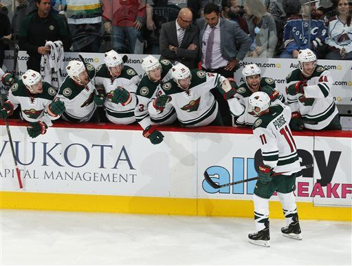 Parise has hat trick as Wild rally for 5-4 win over Avs