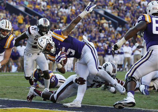 No. 7 LSU too much for displaced South Carolina, 45-24