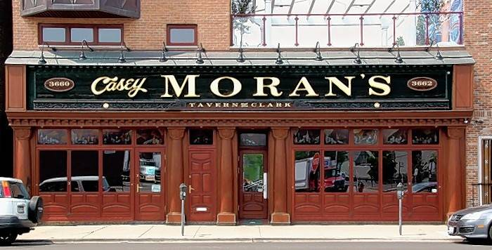 Casey Moran's is one many popular game-day hangouts near Wrigley Field.