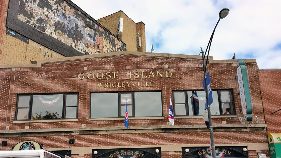 Goose Island serves up a Cubby Blue blueberry ale in honor of the Cubs.