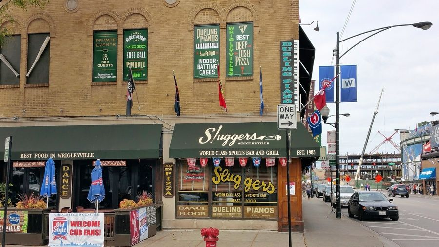Its location and batting cages make Sluggers a prime Wrigleyville bar.