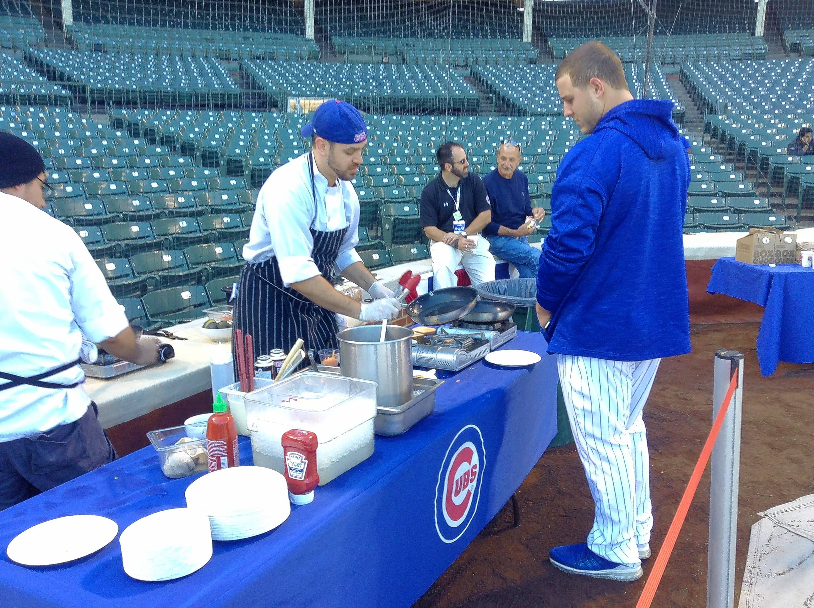 Cubs first baseman Anthony Rizzo waits for his breakfast Sunday morning at Wrigley Field.