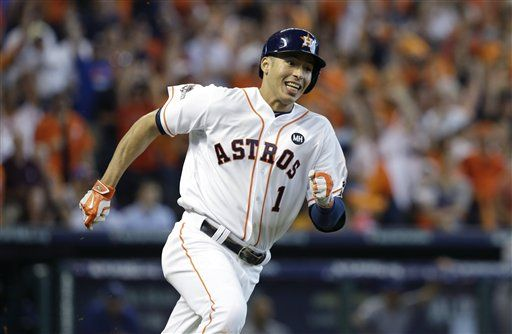 Correa error costly, Astros fall to KC 9-6, ALDS tied at 2