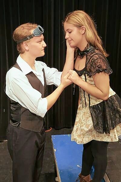 "Romeo, played by Danny Hollander, falls in love with Juliet, played by Natalie Antonik in Palatine High School's production of ""Romeo and Juliet."""