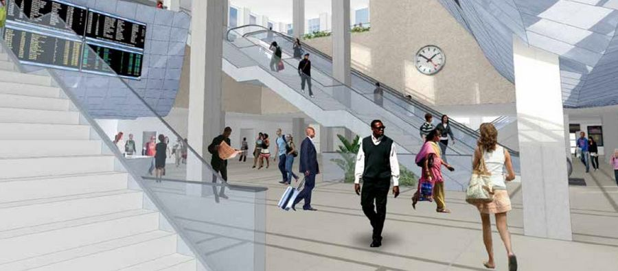 An artist's rendering shows renovations to Union Station.