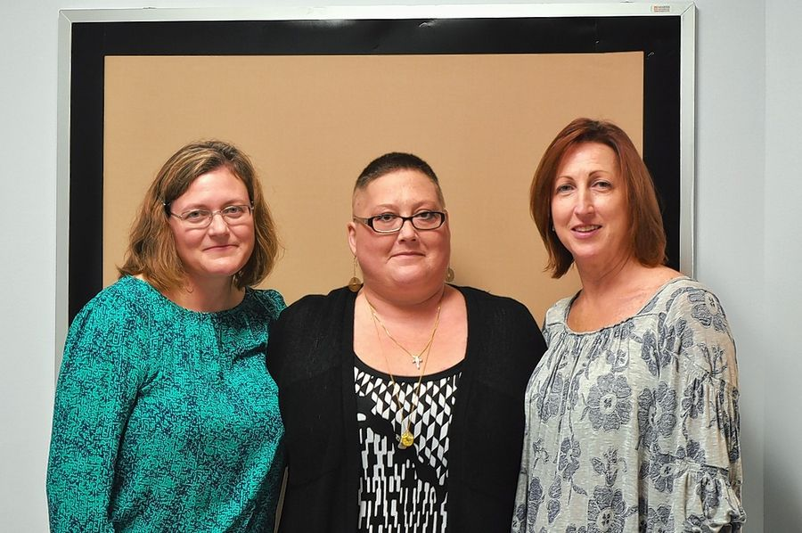 Mary Grogan, from left, Katherine Rasmussen and Kendra Clark kept the Frederick School Parent Teacher Organization in Grayslak afloat after a former treasurer stole $17,000.
