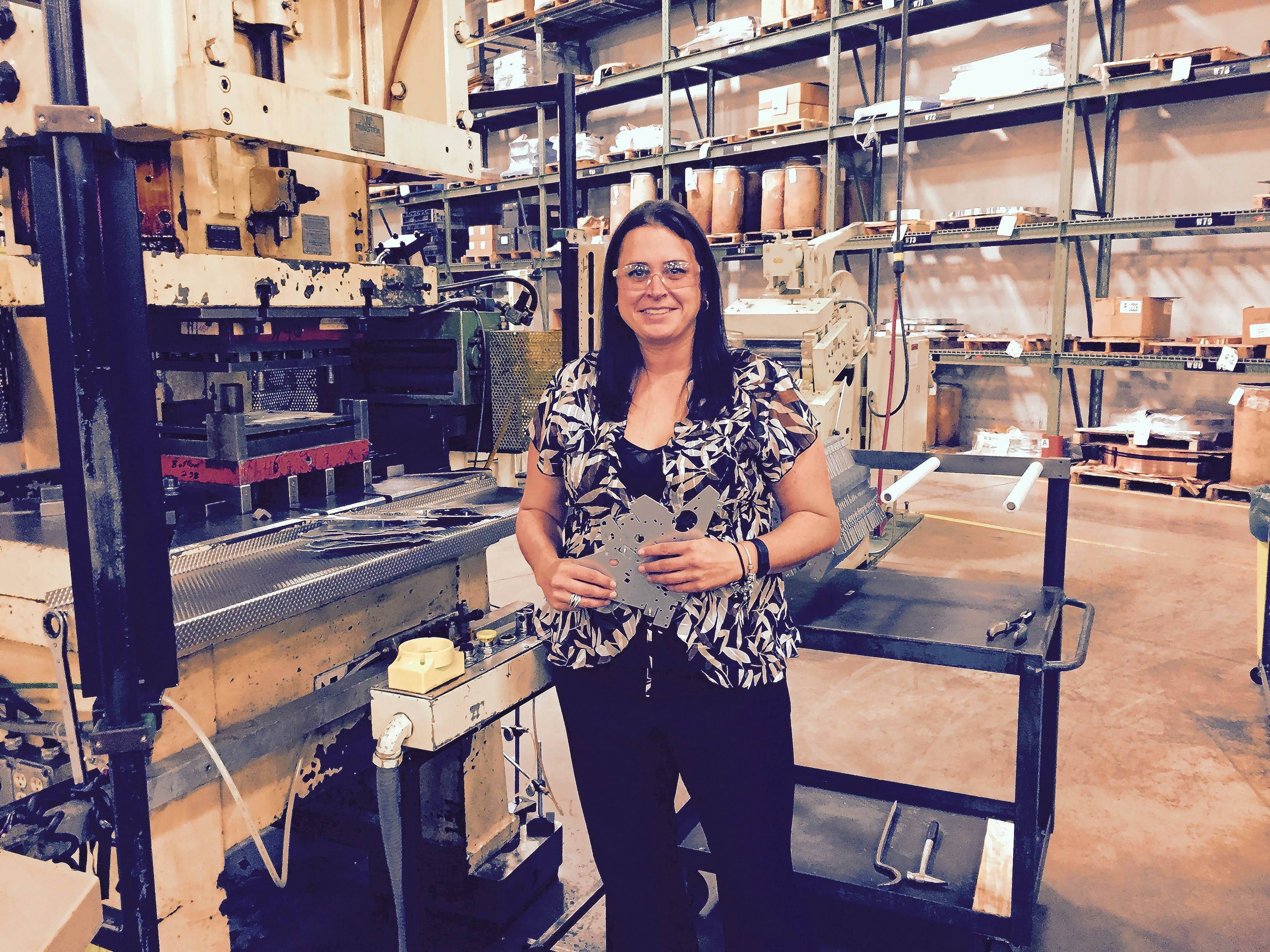 Erica Wiegel of Elk Grove Village now leads Aro Metal Stamping Inc. in Roselle. She left her family-owned Wiegel Tool Works in Wood Dale to go on her own.