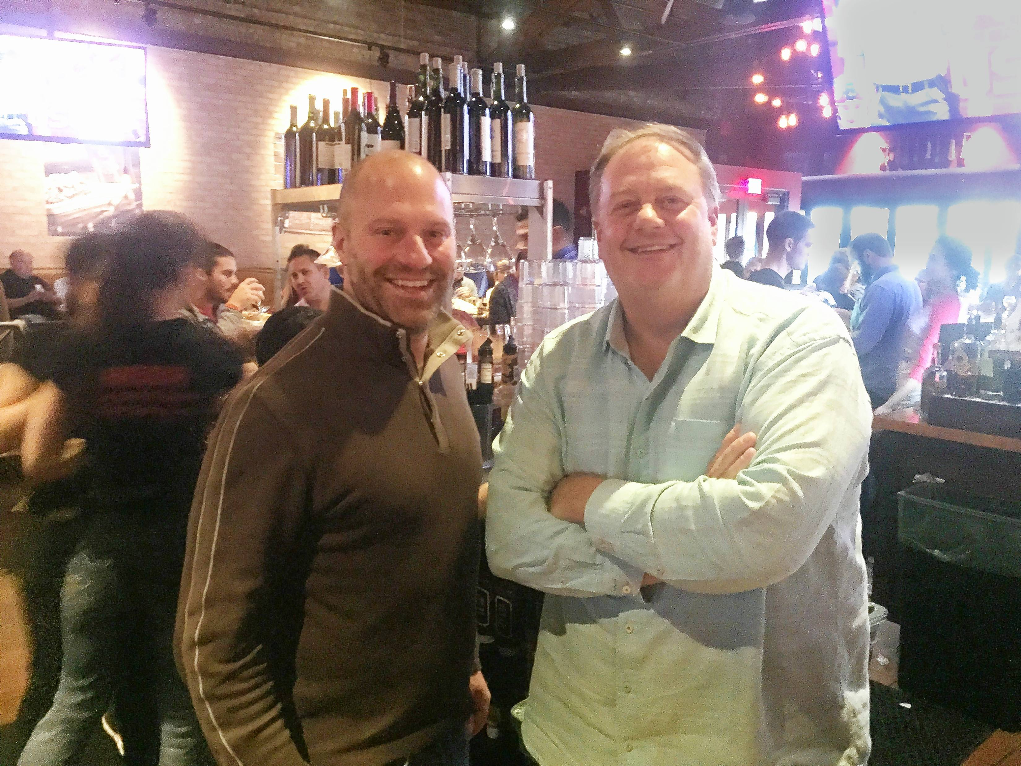 Owners Mark Zych, at left, and Scott Ward are ready to expand Tap House Grill with franchises.