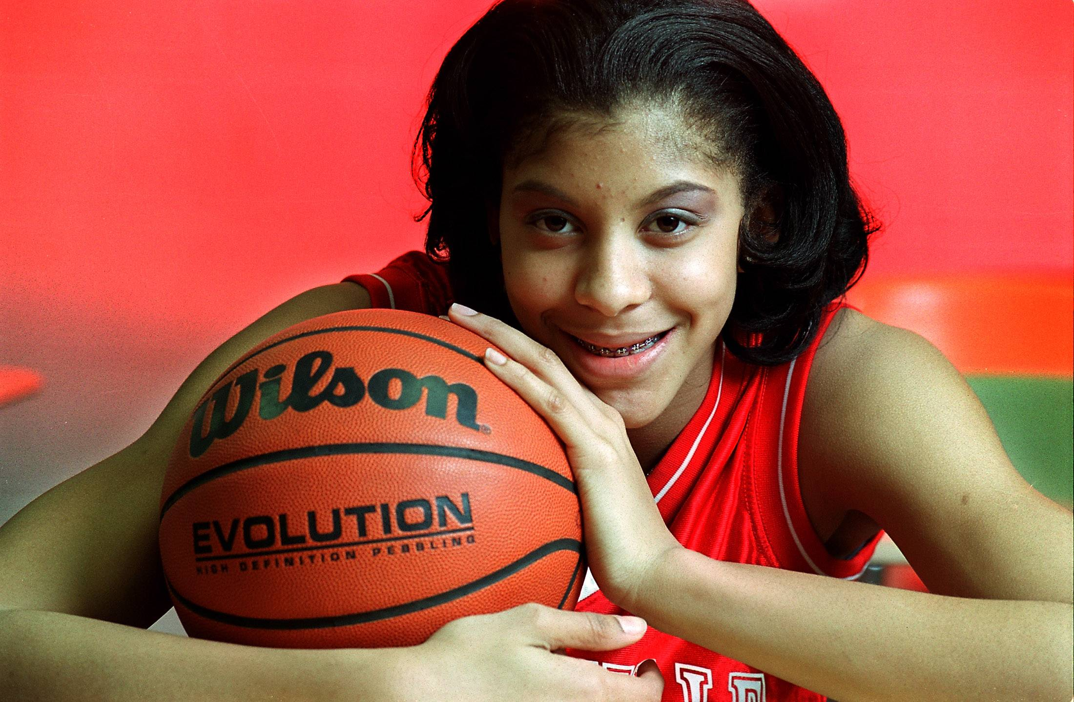 Candace Parker, in this January 2012 photo when she was the Naperville Central High School captain of the all area girls basketball team, is now a spokeswoman for hair products.