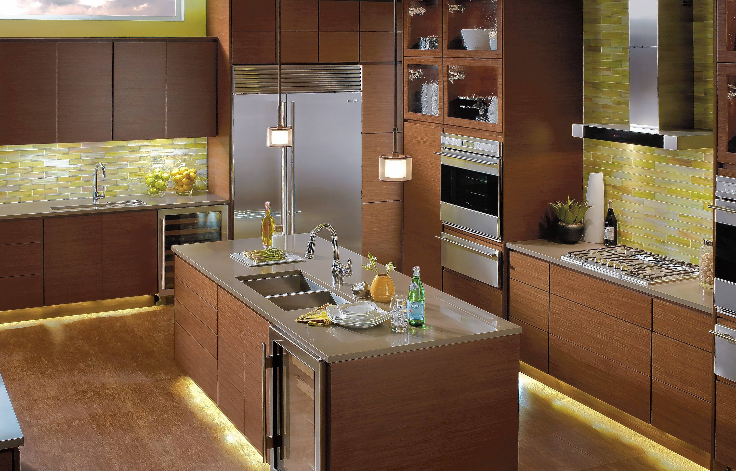 In The Kitchen, Supplement Overhead Lighting Under Cabinet Lighting And  Inside Cabinet Lighting