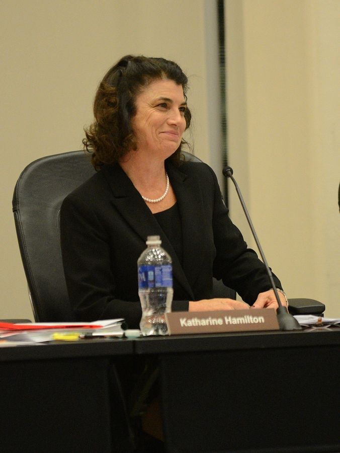 COD board Chairwoman Kathy Hamilton joined three other board members in voting to fire President Robert Breuder.