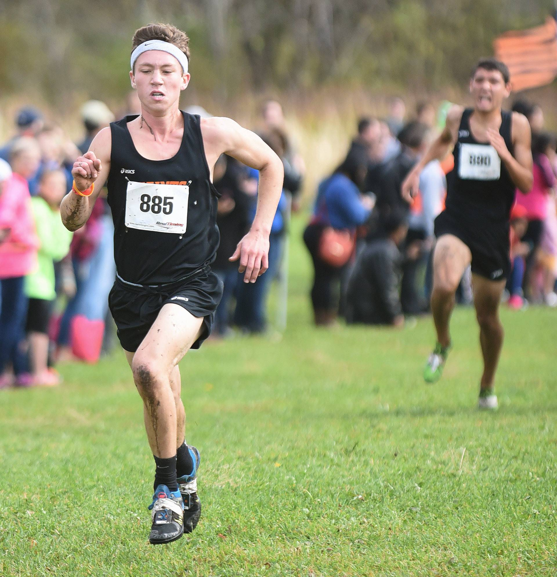 St. Charles East's Mike Gerkin took fourth with a time of 16:26.8 at the St. Charles North regional on Saturday.