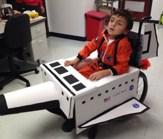 It's cool to dress as an astronaut for Halloween, but Jacob Sahinoglu, 9, of Palatine drew applause from his fellow students at Willow Bend Elementary School in Rolling Meadows last year with this costume that transformed his wheelchair into the Space Shuttle.