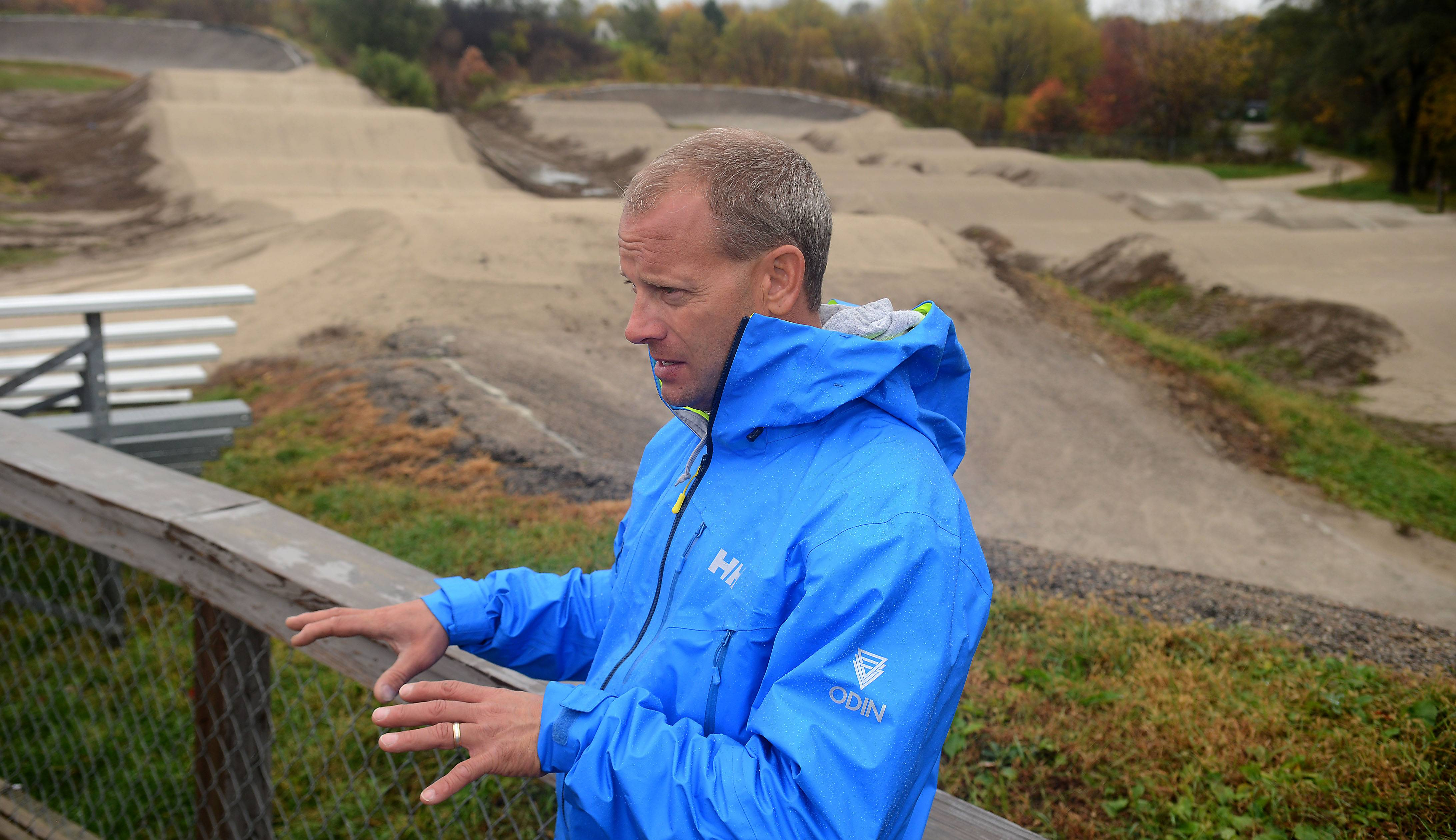 Professional BMX Track builder gives Elgin's 'The Hill' an upgrade