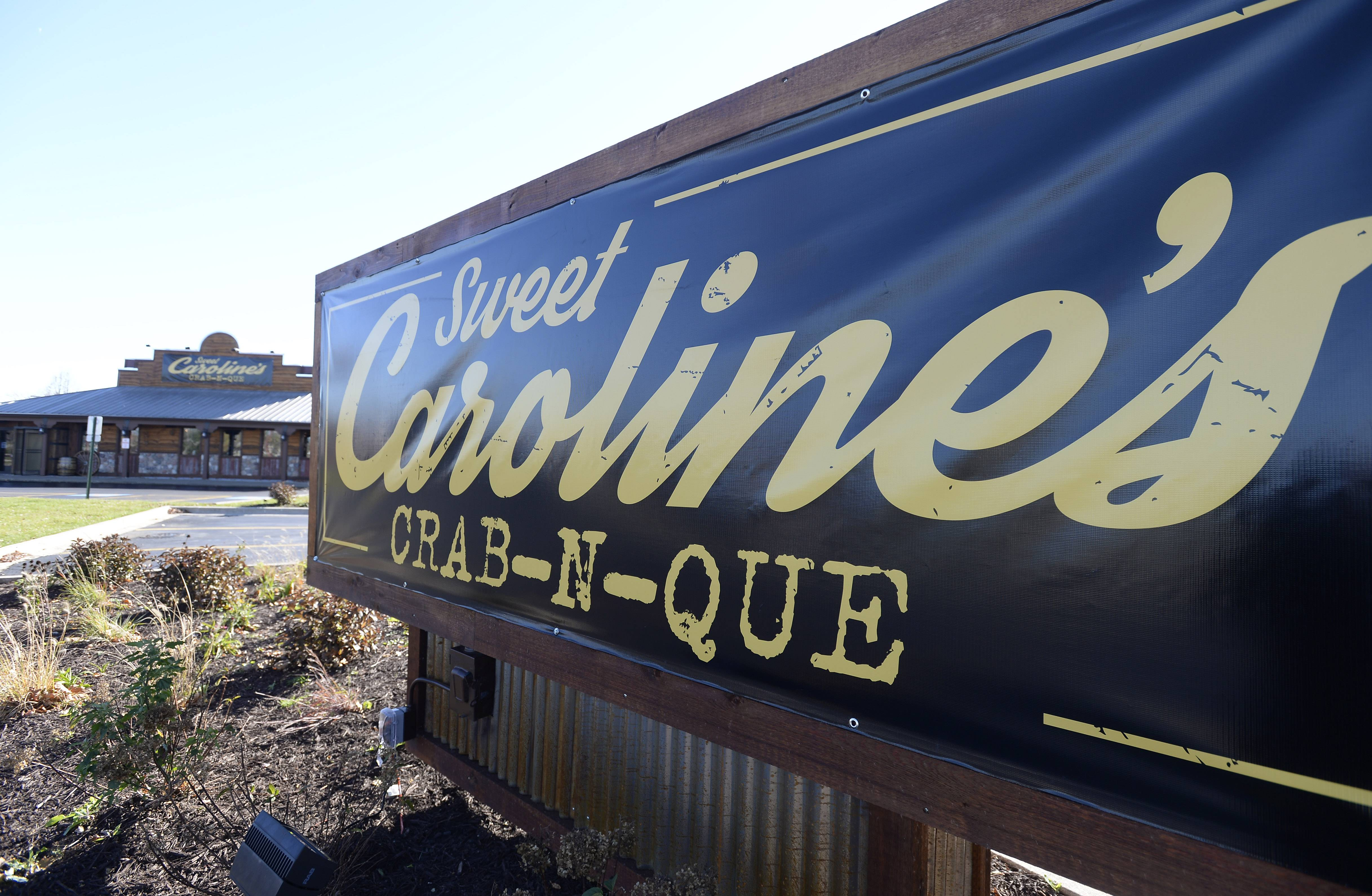 Sweet Caroline's Crab-N-Que will be opening Friday at the southeast corner of Higgins and Barrington roads in Hoffman Estates.