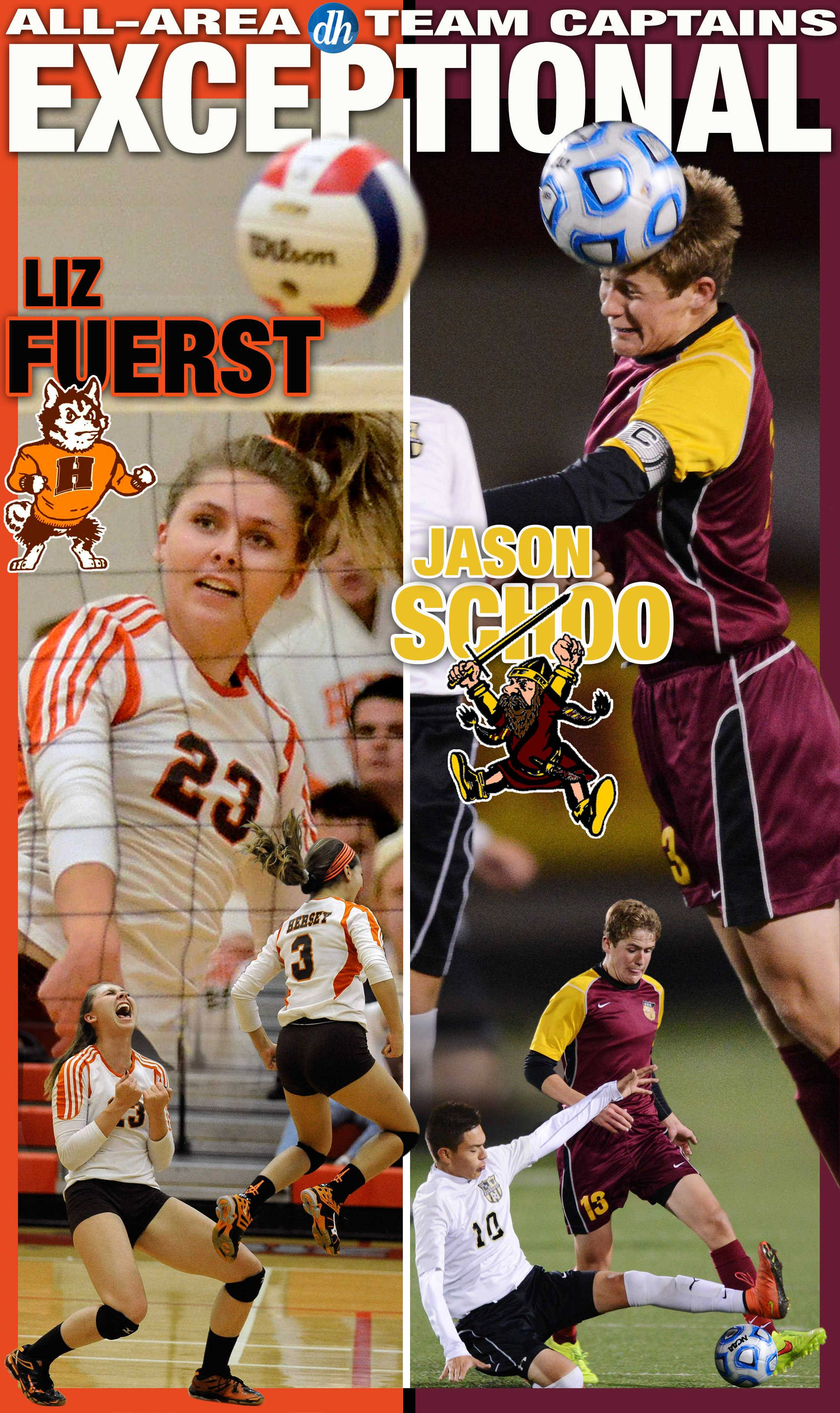 Volleyball player Liz Fuerst of Hersey and soccer player Jason Schoo of Schaumburg are the Daily Herald All-Area Honorary Team Captains for 2015.