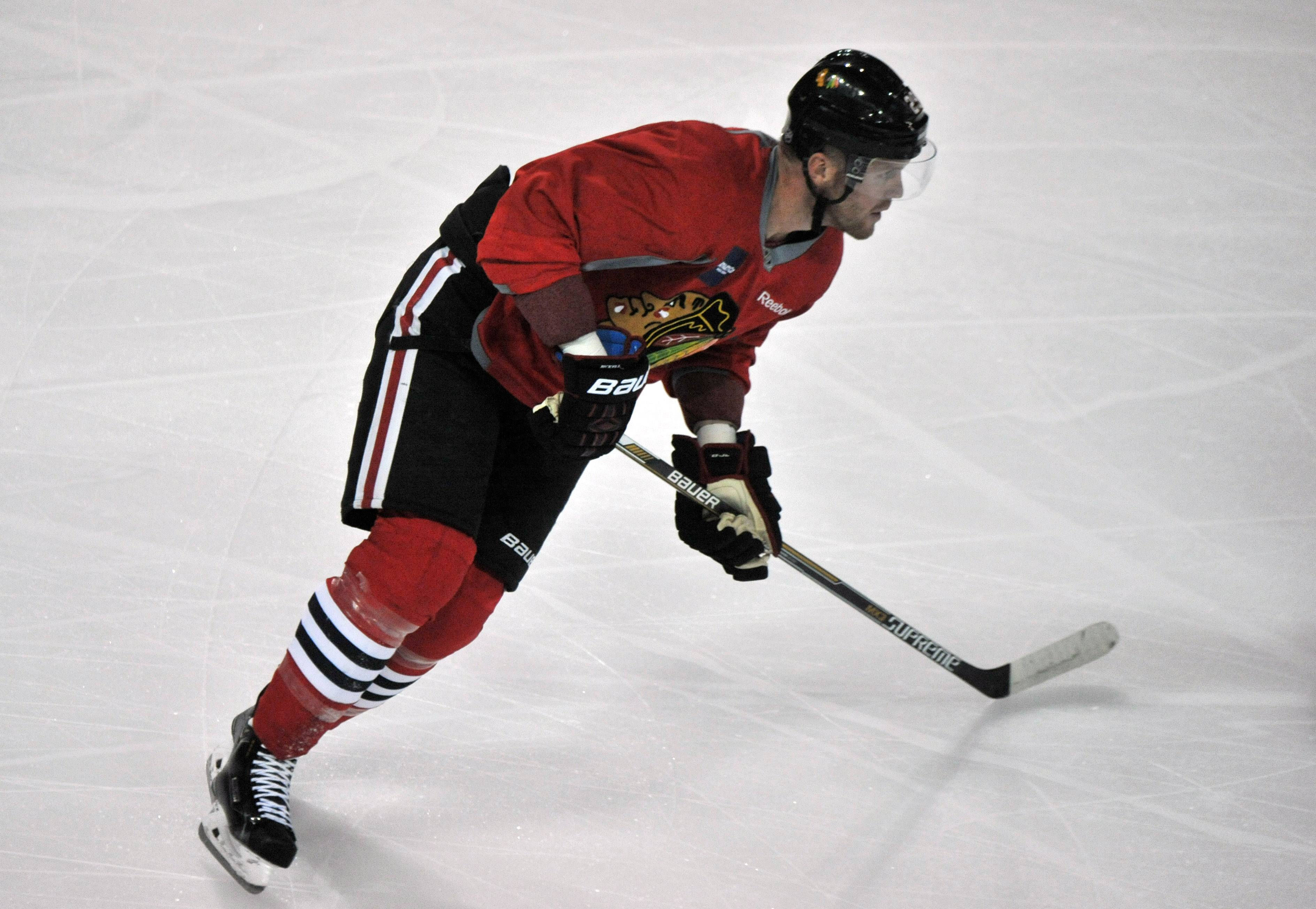 Bryan Bickell is back in the AHL for the first time since 2009-10, and he's doing all he can to work his way back to the NHL.