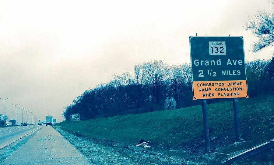 The exit to Route 132 from the Tri-State Tollway (I-94) in Gurnee is too exciting for one driver, who complains about traffic veering around. It's one of many places drivers and road engineers are struggling to adjust to changes brought about by the region's road work boom.