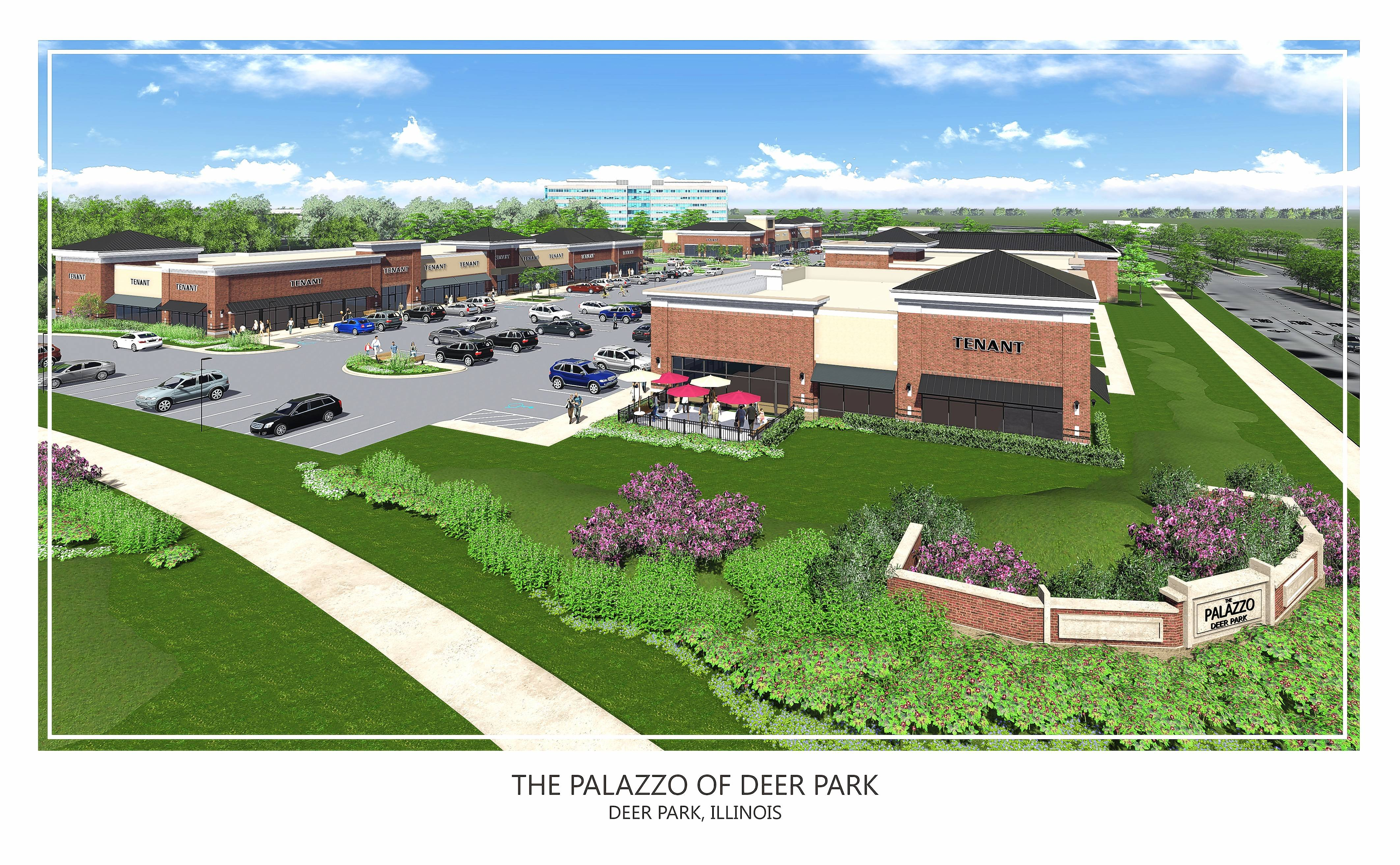 This is an artist's rendering of Palazzo of Deer Park on Rand Road. Buffalo Wild Wings is expected to be an anchor at the 58,000-square-foot plaza next to Deer Park Town Center.