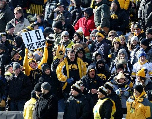 ... 2015, in Iowa City, Iowa. Iowa won the game 40-20 to improve to 11-0