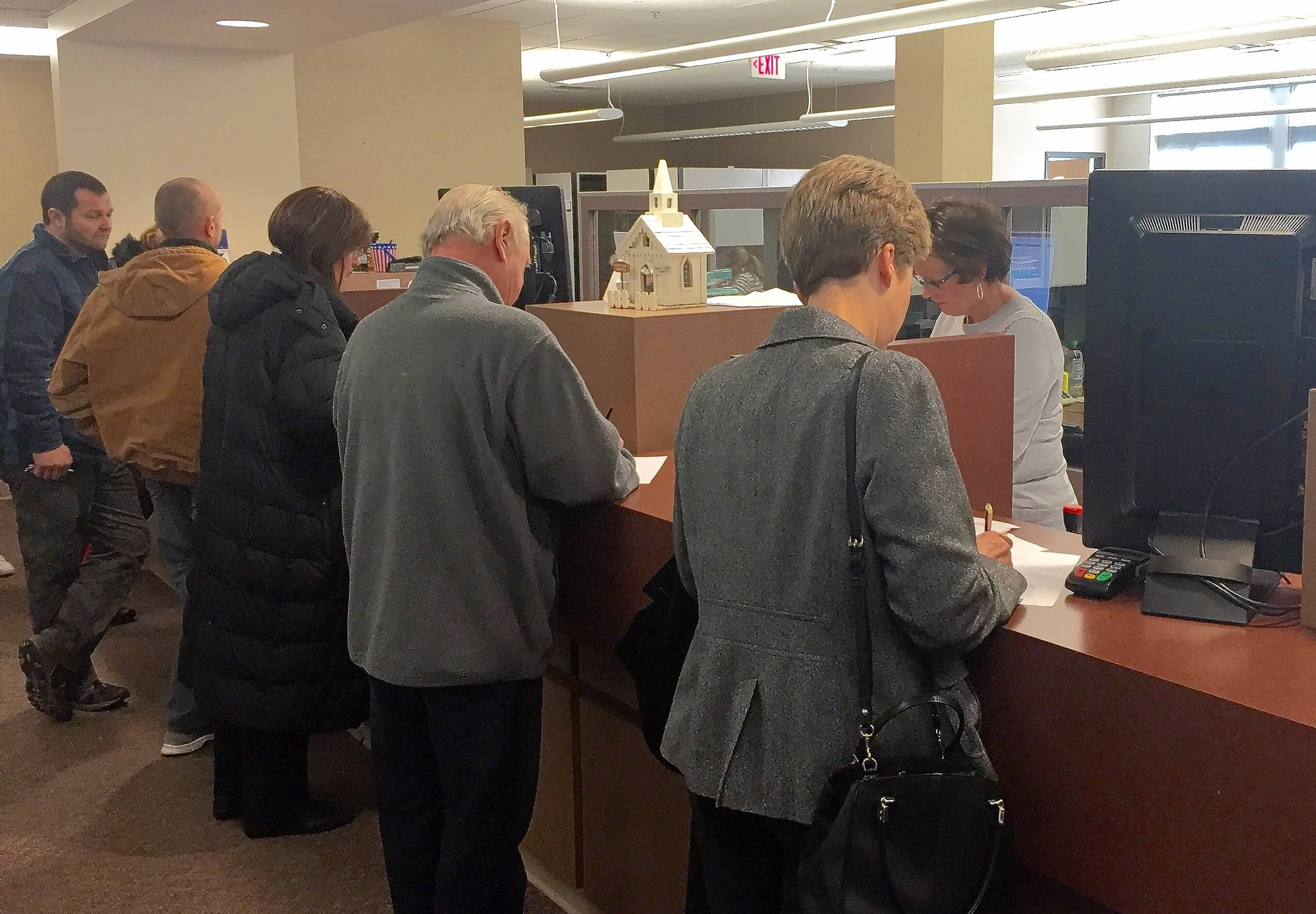Candidates file nominating petitions for the March 15 primary elections Monday morning at the McHenry County Clerk's office.