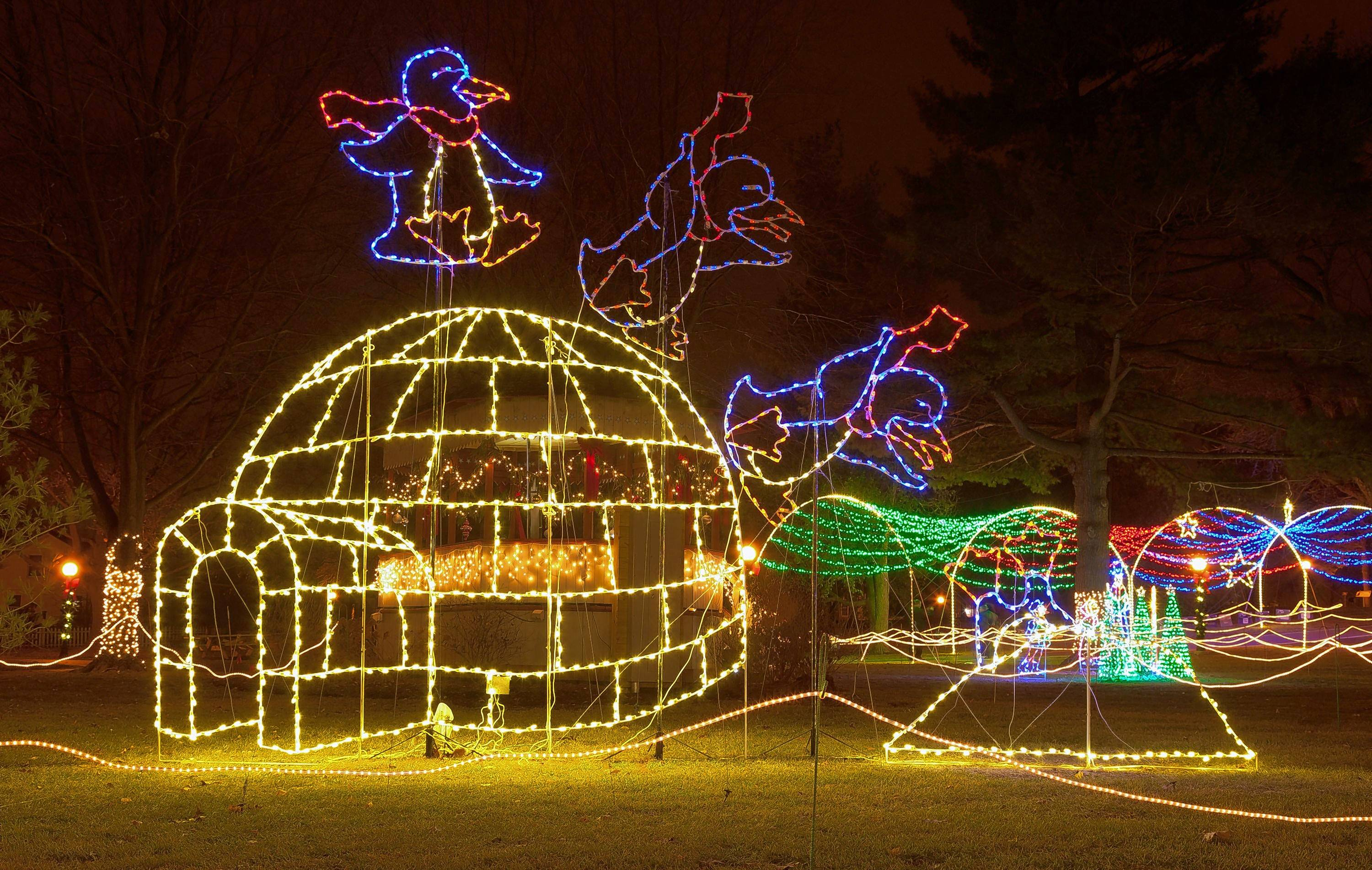 During Naper Lights, the Naper Settlement comes alive with holiday displays.