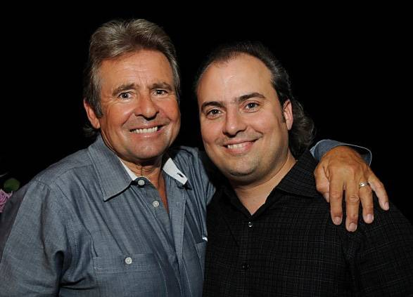 Former Monkees singer Davy Jones, left, pictured with Arcada Theatre president Ron Onesti, stayed for hours after his show at The Arcada because he told the audience he wanted to hug them all. And, most of them stayed to take him up on his offer! Moments like that are tops on Onesti's gratitude list.