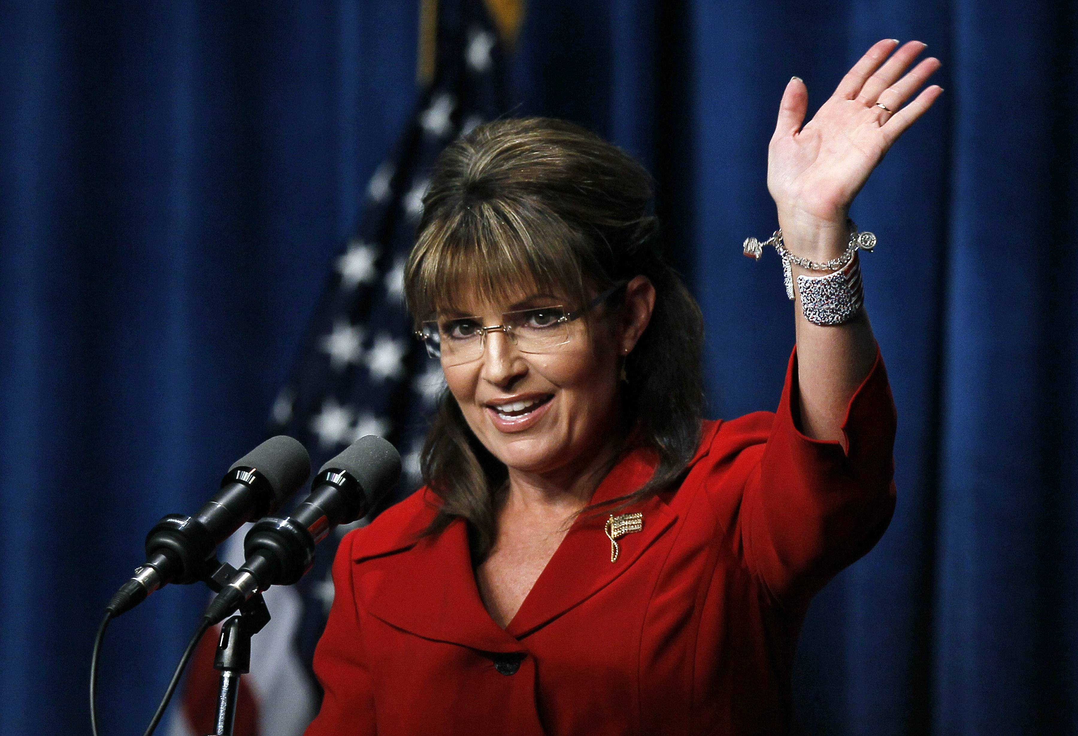 Sarah Palin won't be waving to her fans on Dec. 1 in Naperville — s