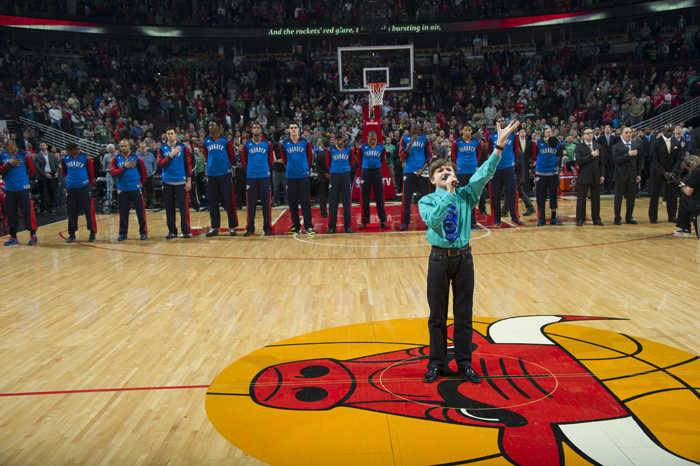 Sheridan Archbold performed the national anthem at a Chicago Bulls game last year.
