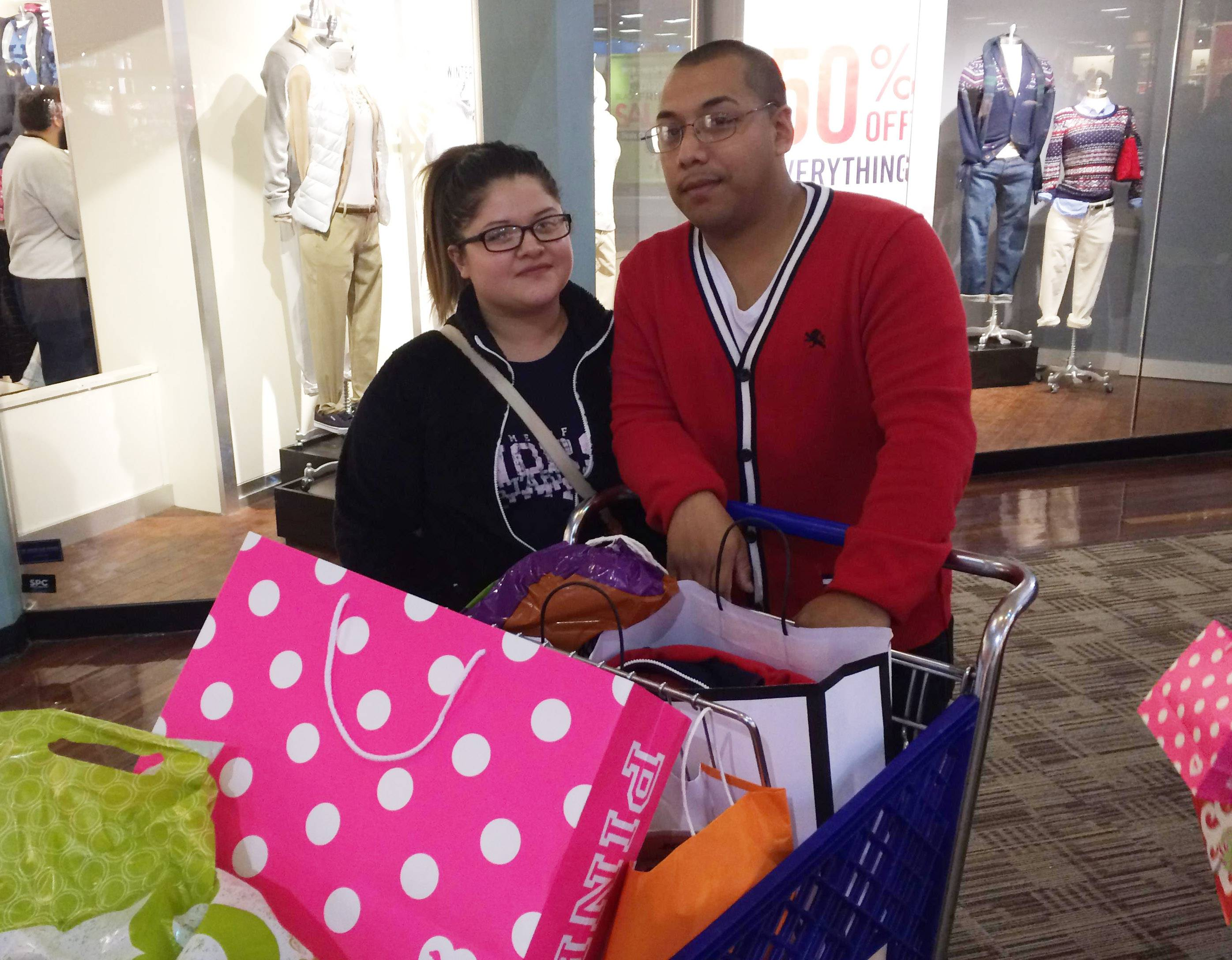 Andy Gomez of Gurnee said his trip to Gurnee Mills on Black Friday wasn't primarily to purchase gifts for the holidays.