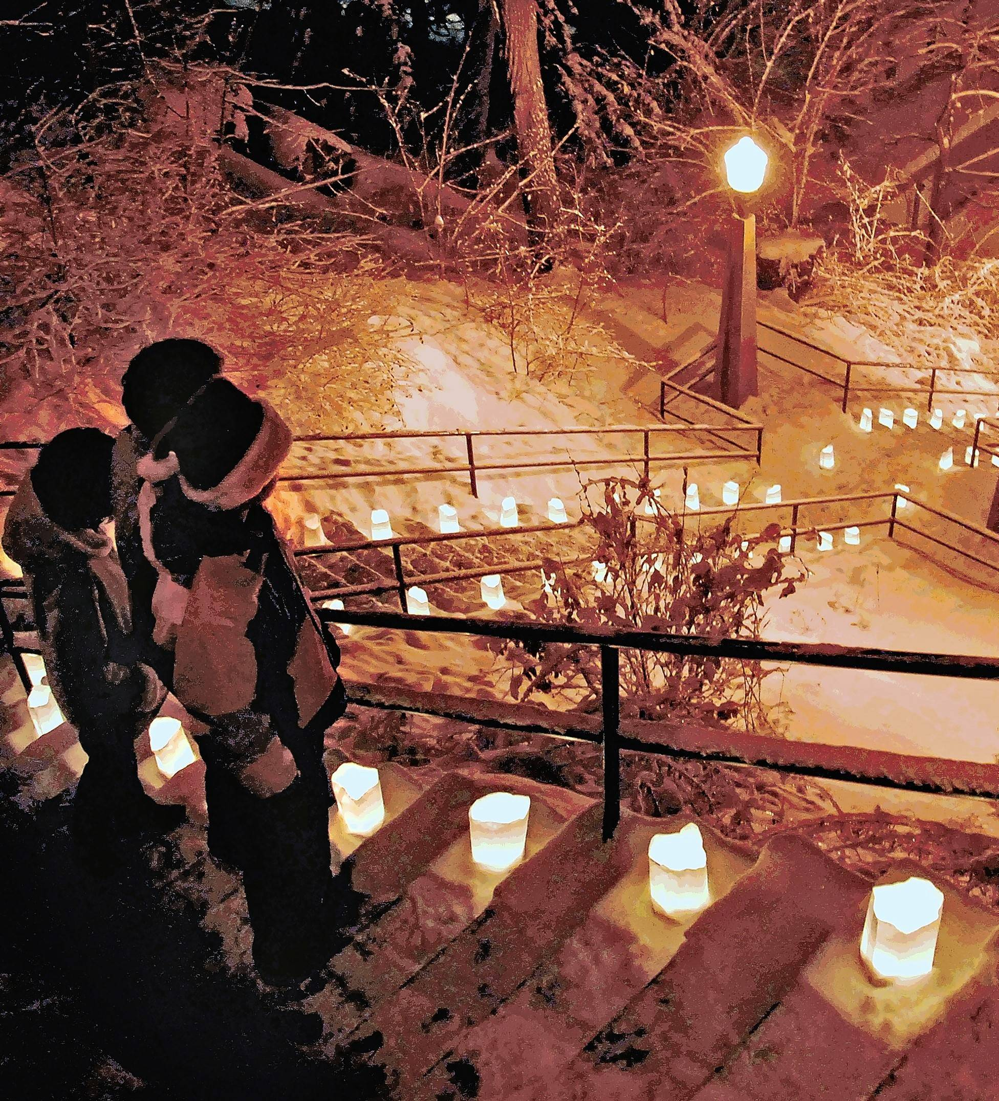 Charge the camera batteries for Night of the Luminaria's 5,000 candlelit luminaries on streets, steps and sidewalks of Galena, Illinois on Dec. 12.