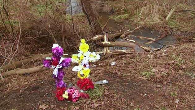 This memorial to Promise Williamsen, James Seward and Kelly Cronin was left by friends where Williamsen's 1994 Chevrolet Camaro left Lily Lake Road in McHenry County Friday afternoon in a single-car accident that killed the three 18-year-olds.