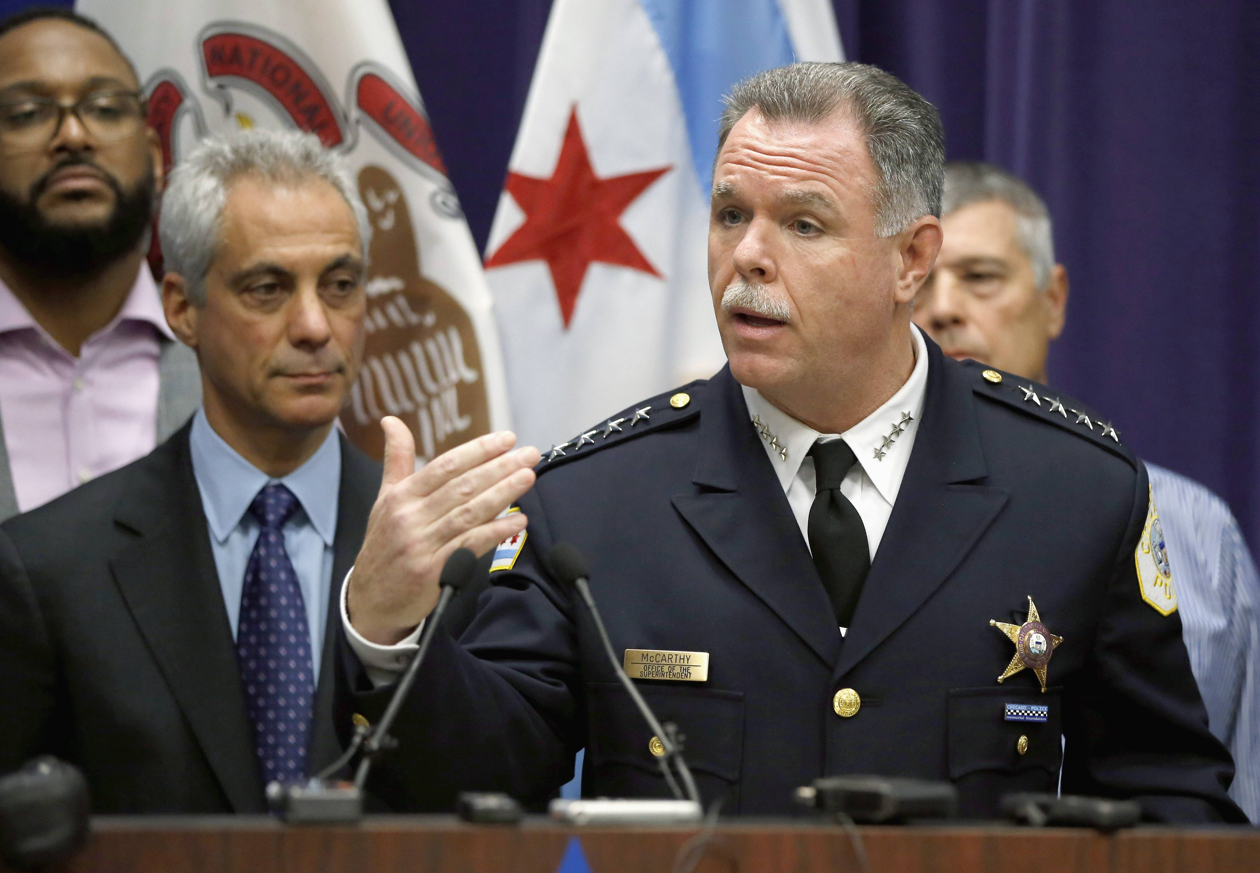 Mayor Rahm Emanuel announced Tuesday, Dec. 1, 2015, that Chicago Police Superintendent Garry McCarthy has been fired after a public outcry over the handling of the Laquan McDonald case.