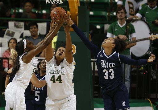 No  4 Baylor women roll to 89-38 win over Rice
