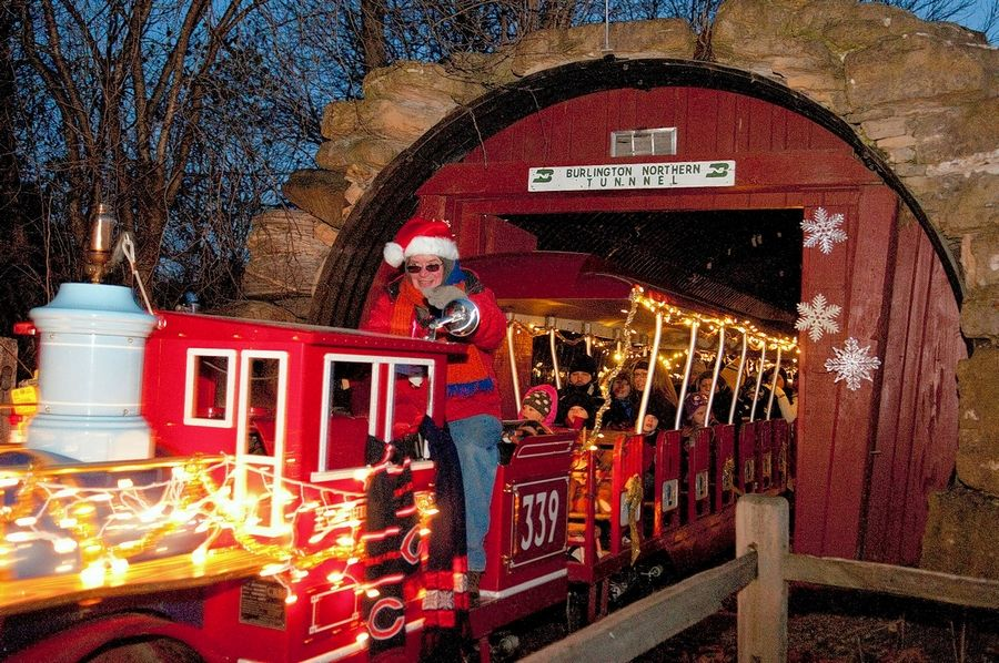 It's full speed ahead with Yuletide cheer when the Holiday Express train makes its rounds during the first three December weekends at Blackberry Farm.