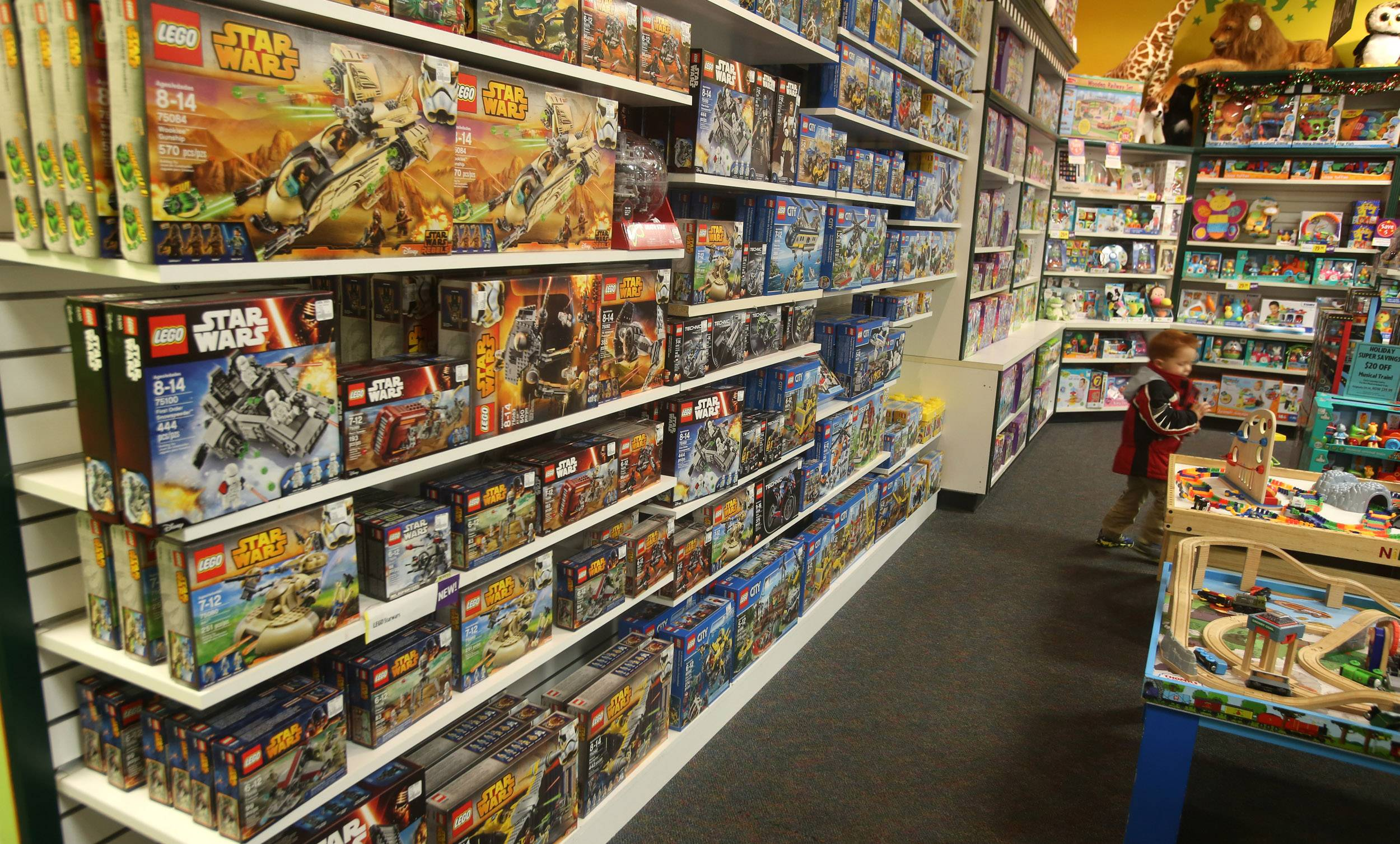 Star Wars Lego toys are a popular gift this season at the Learning Express Store in Naperville.