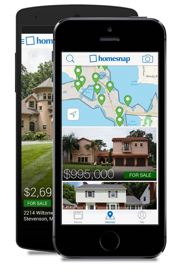 The app Homesnap lets you learn about a house for sale just by taking a photo of the house.