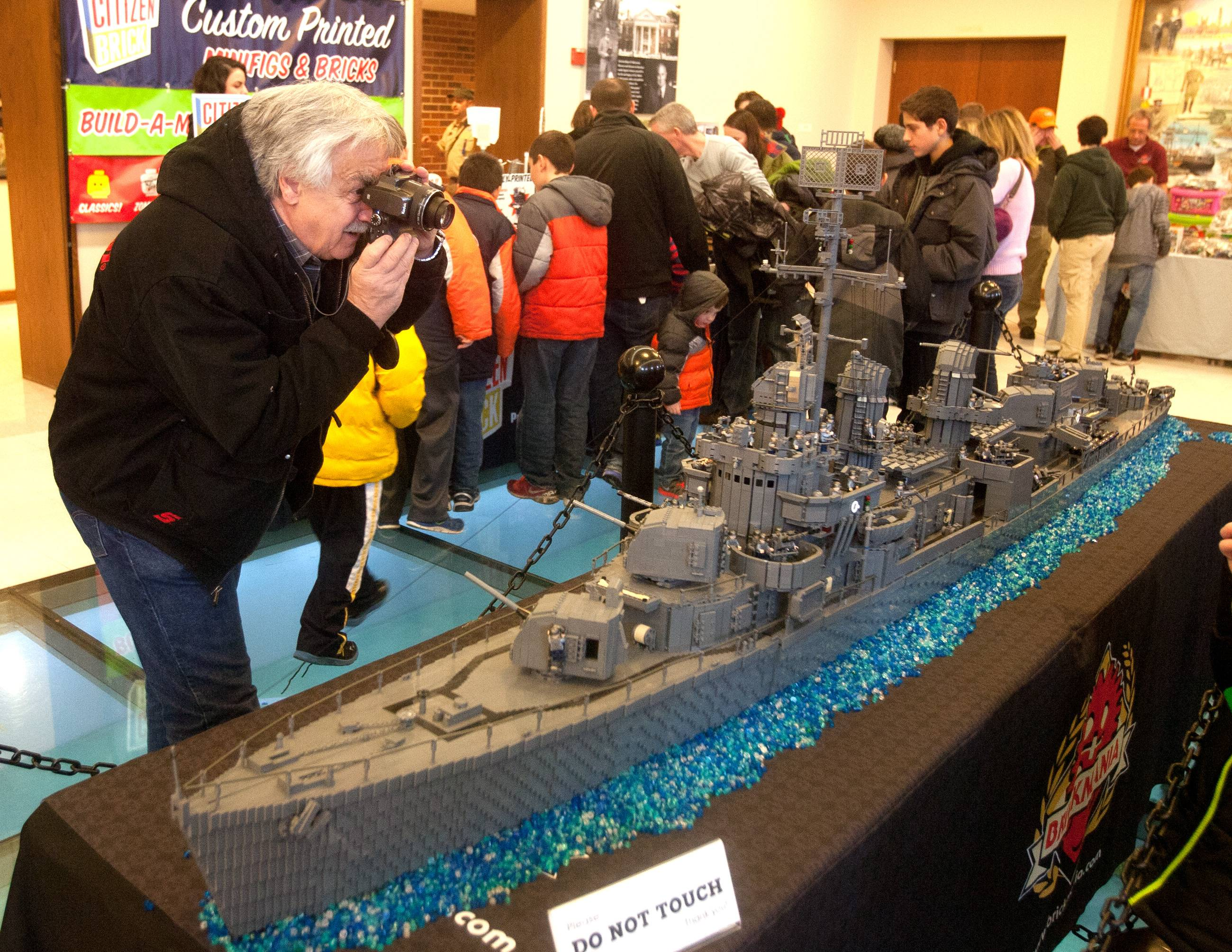 This Lego replica of the USS Nicholas, a destroyer that was commissioned on June 4, 1942, was a highlight of last year's Lego Train Show at Cantigny. This year's show will feature of the replica USS Missouri battleship.