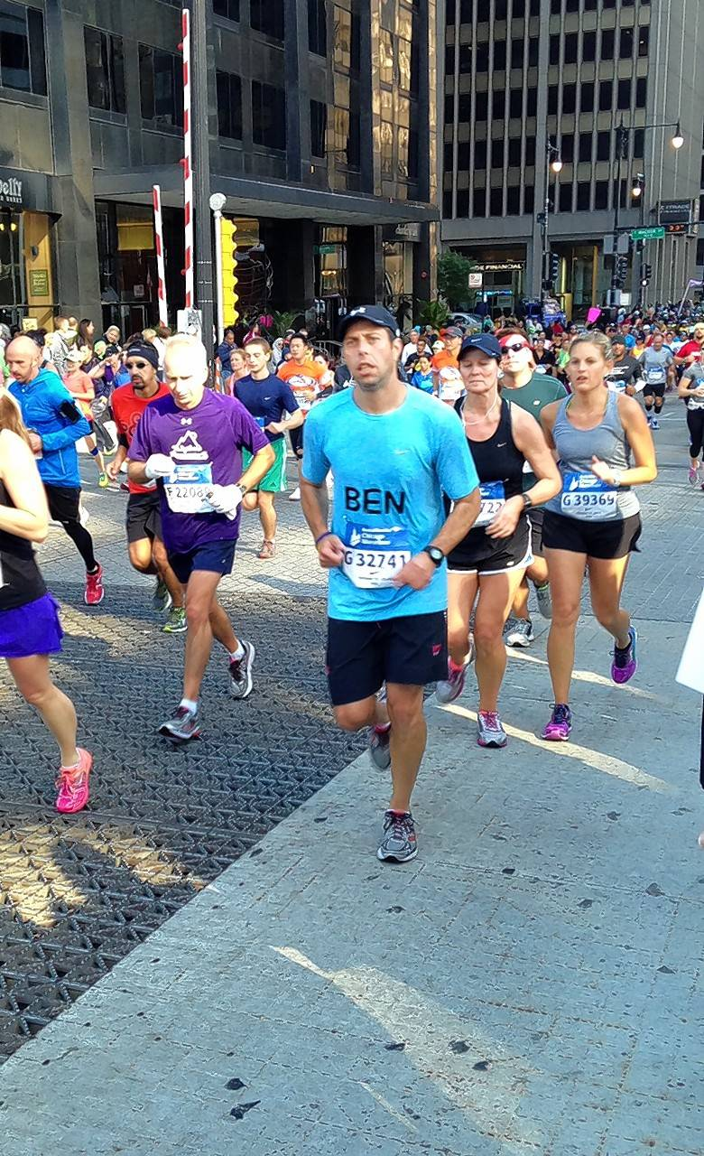 Ben Niernberg was diagnosed with colon cancer when he was 37, but that didn't stop him from later training and completing the Chicago Marathon.
