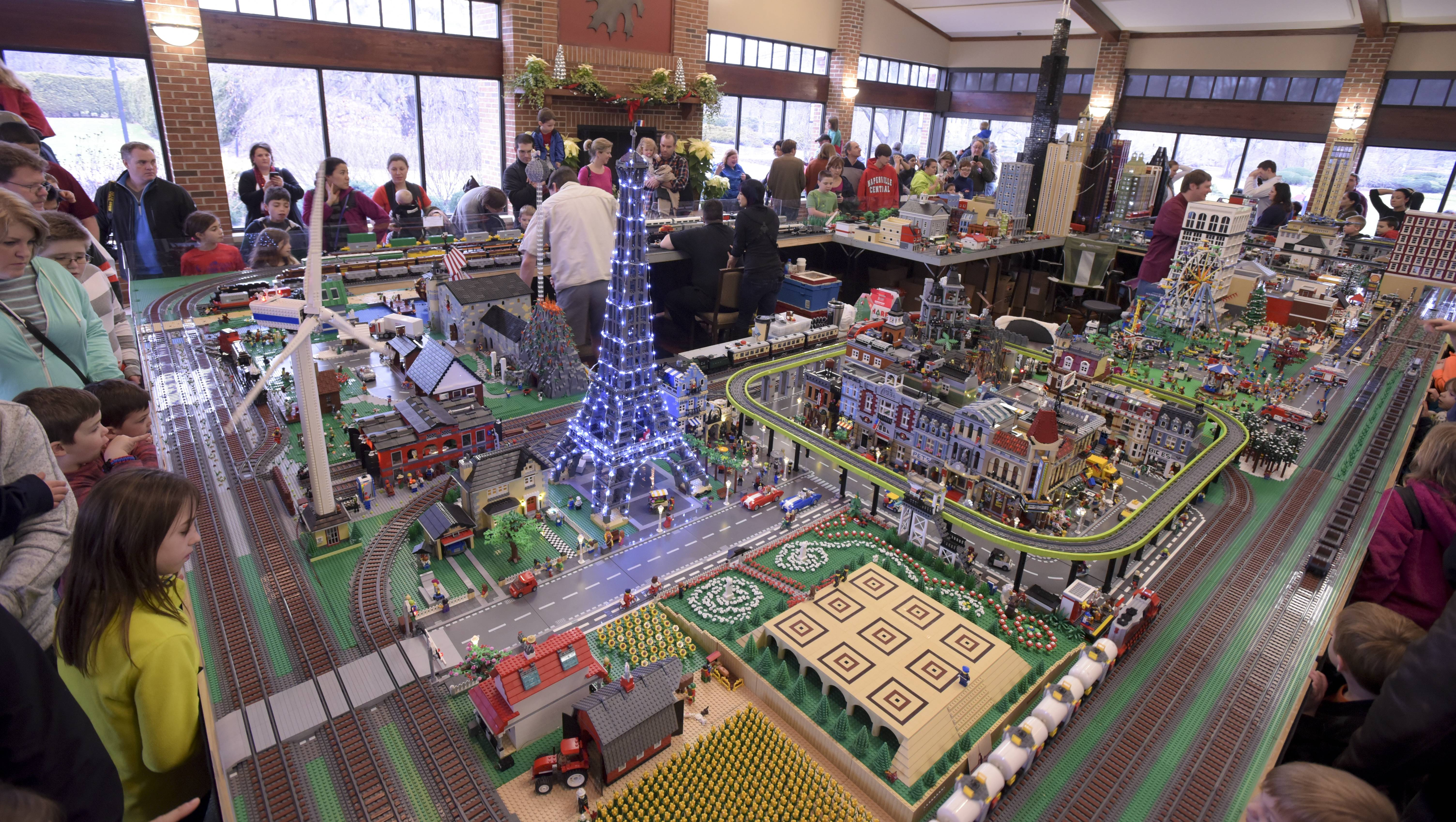 The 14th annual Lego Train Show at Cantigny Park was packed Sunday.