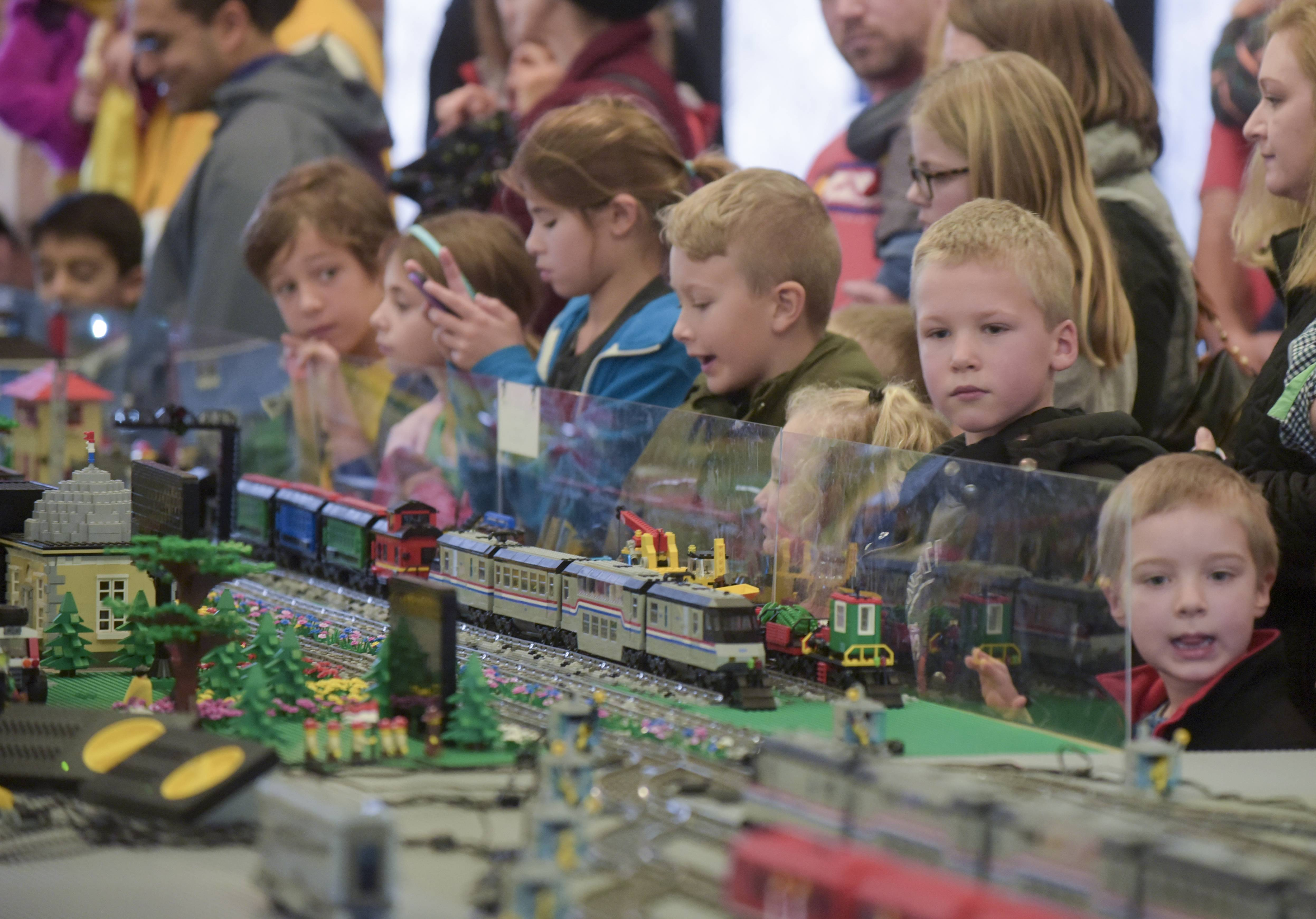 The 14th annual Lego Train Show at Cantigny Park was packed Sunday with Lego fans viewing the creations of the Northern Illinois Lego Train Club.