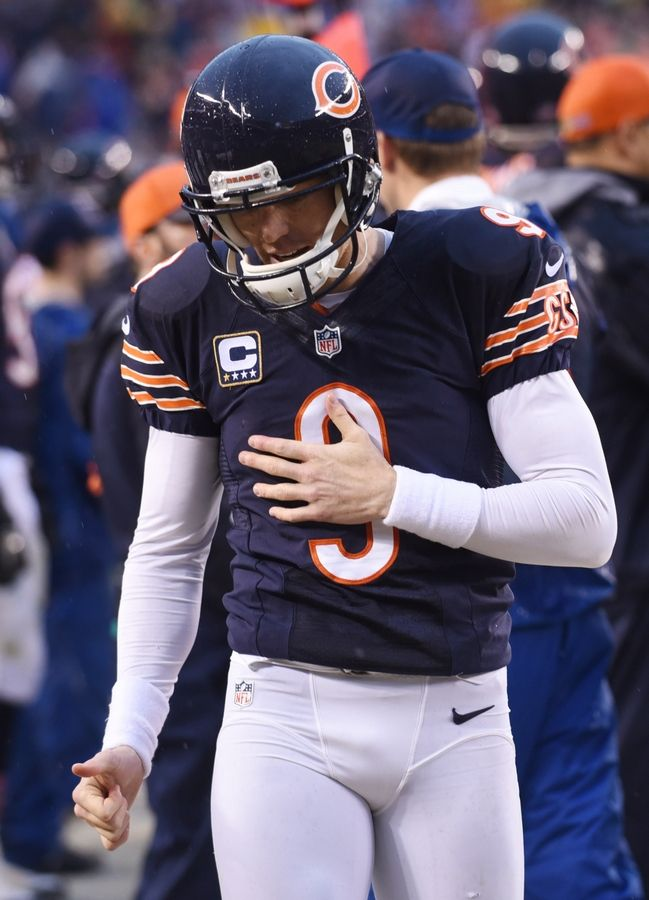 Joe Lewnard/jlewnard@dailyherald.comChicago Bears kicker Robbie Gould walks his team's sideline after missing a 50-yard field-goal attempt to tie the game against Washington at Soldier Field in Chicago, Ill., Sunday, December 13, 2015.