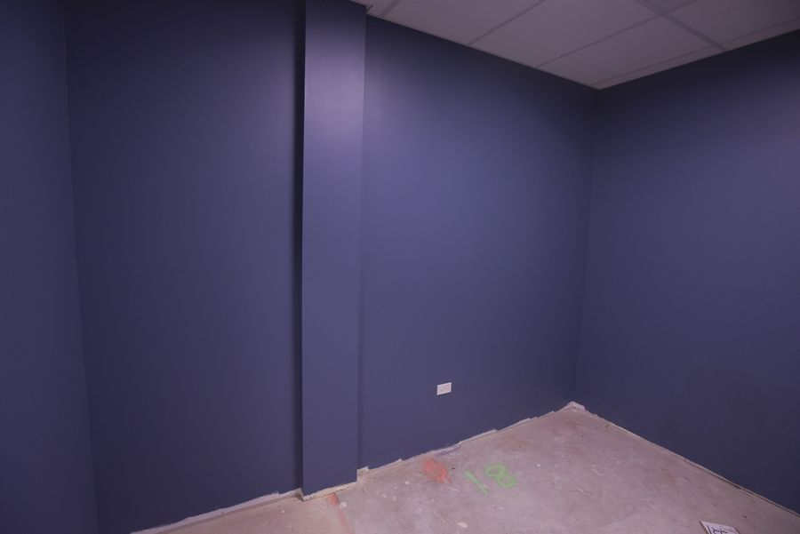 The paint color in some of the rooms at the new Soaring Eagle Academy in Lombard are meant to be soothing for the school's students with autism.